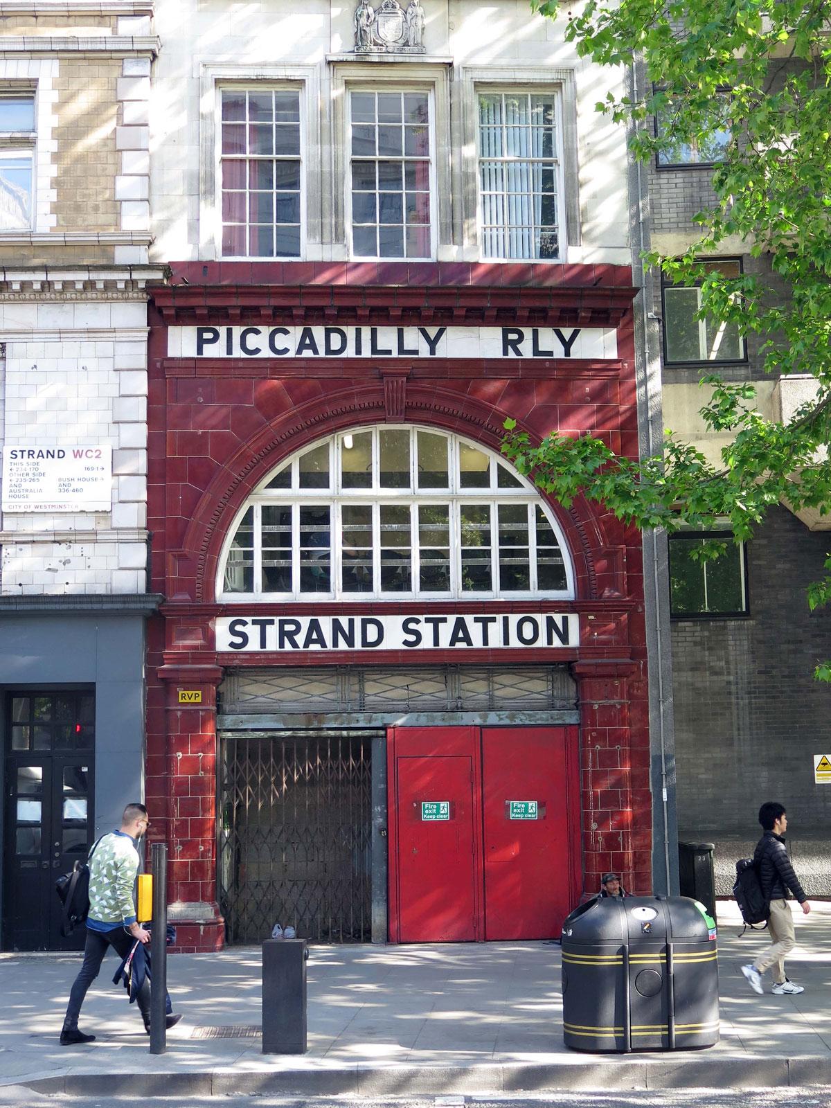 The Former Strand (Aldwych) Tube Station