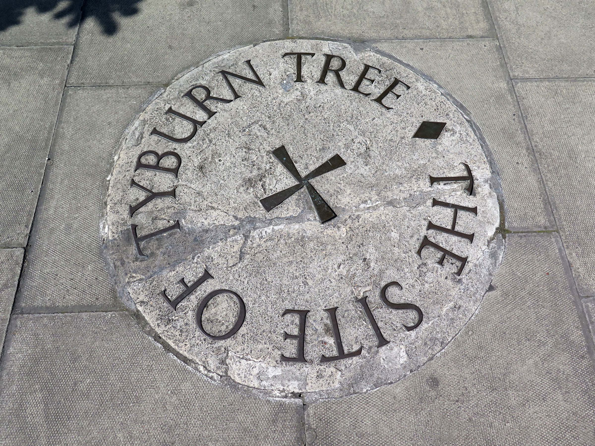 Location of the Tyburn Tree