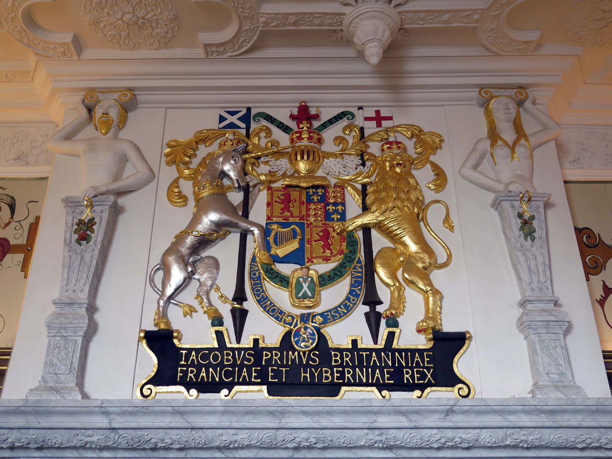 Coat of Arms above the fireplace
