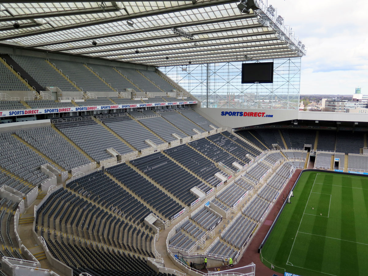 The Leazes Stand from the Milburn Stand