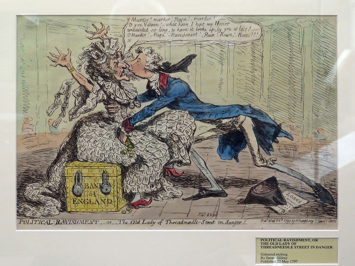 James Gillray's cartoon of the Old Lady of Threadneedle Street
