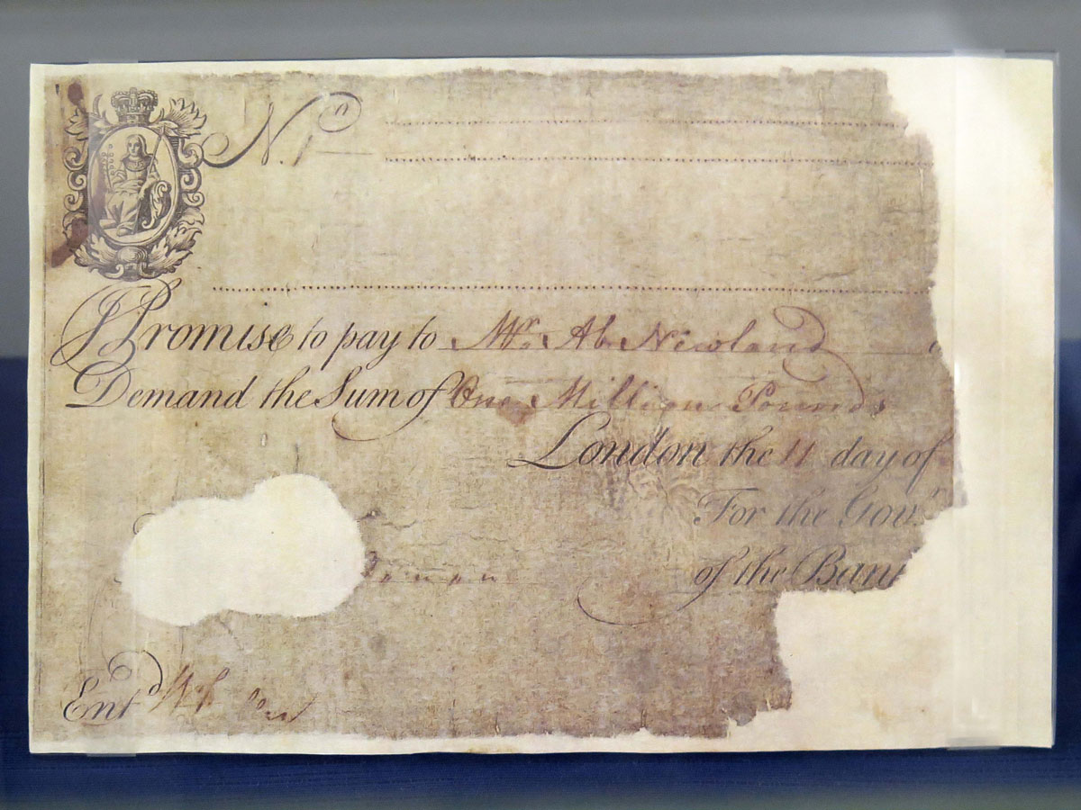 One Million Pound Note from the Early 19th century