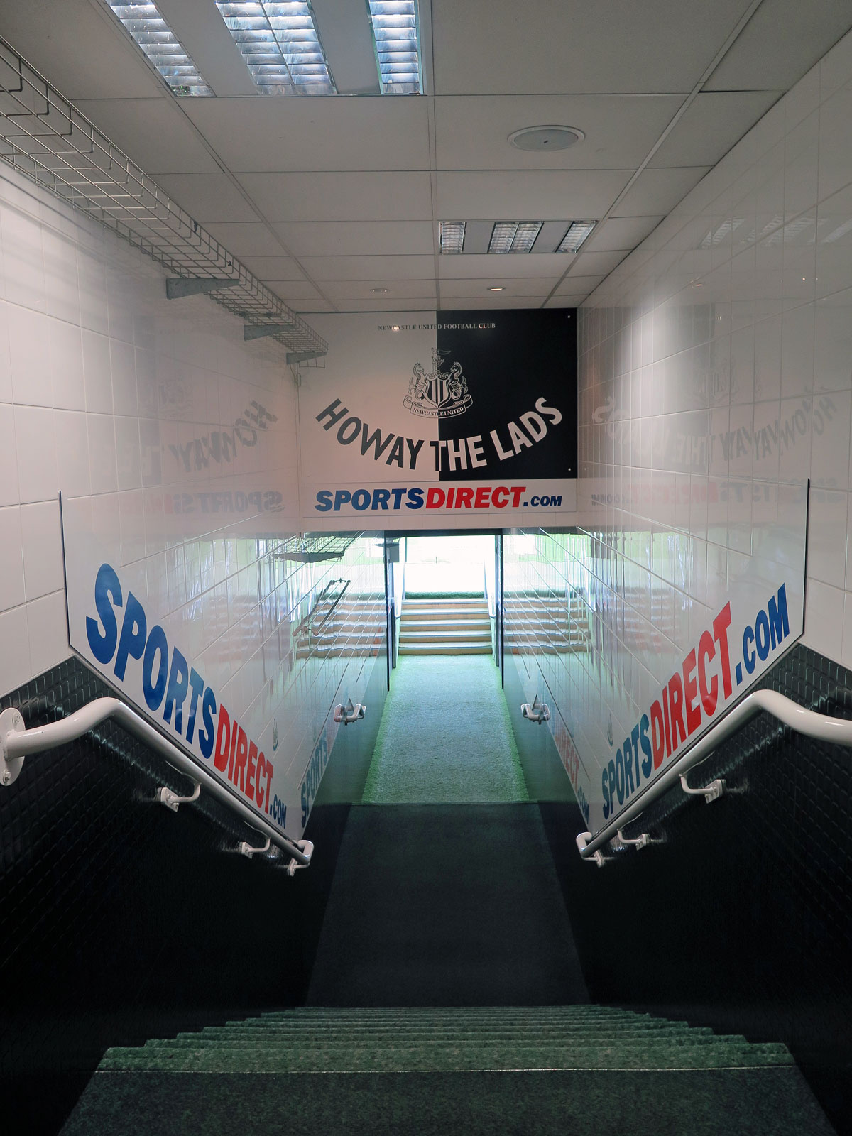 The Tunnel leading out onto the Pitch