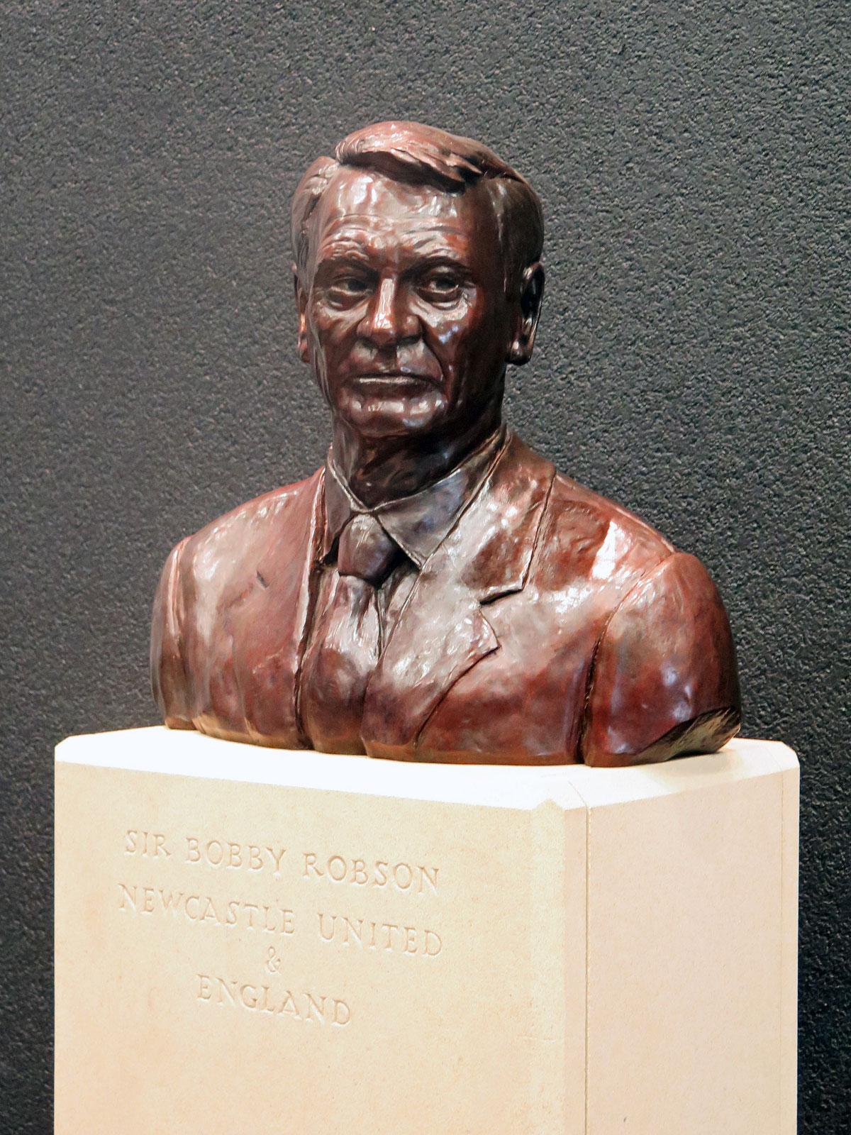 Bust of Sir Bobby Robson