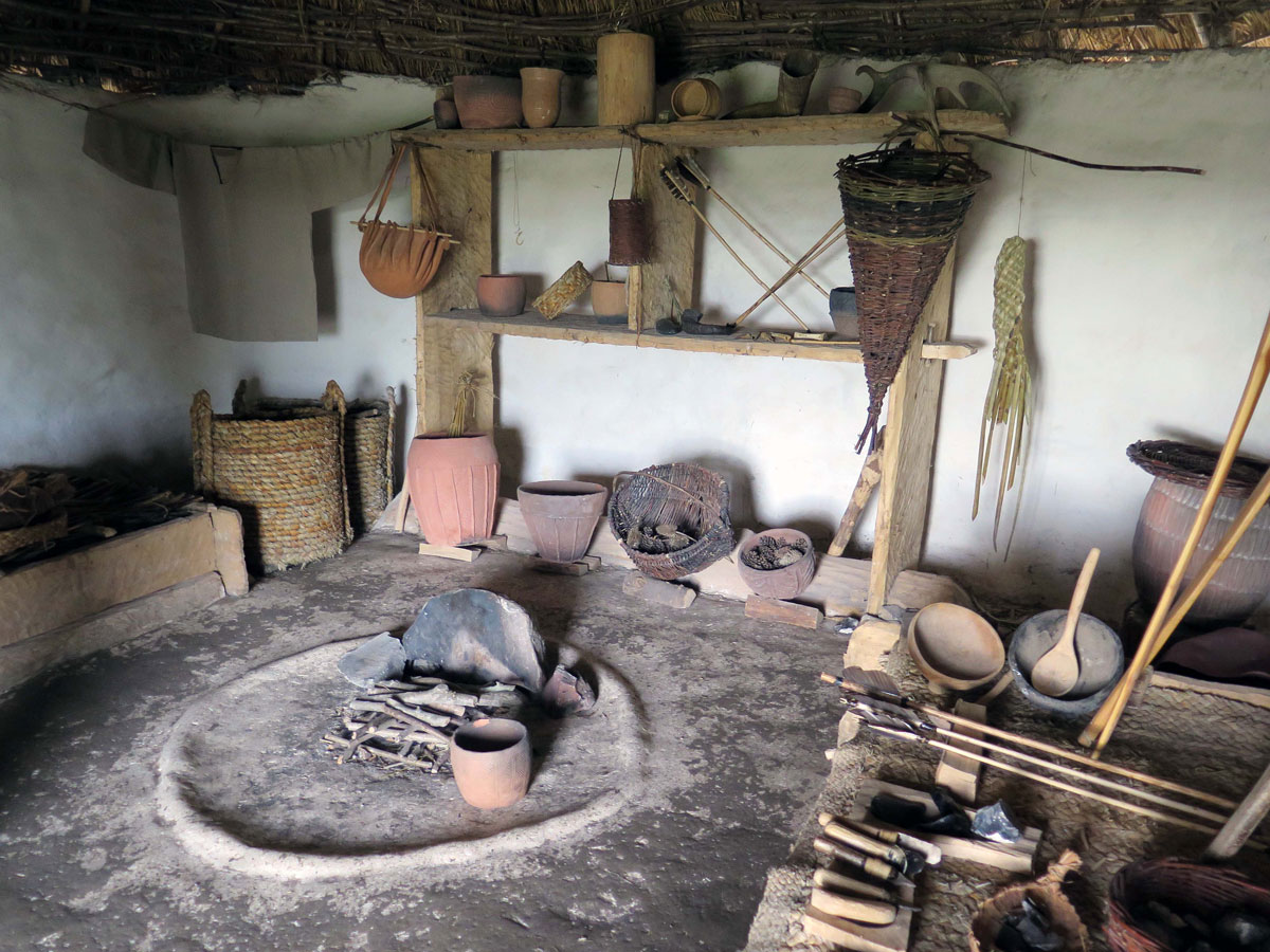 Inside a 'Neolithic' Hut