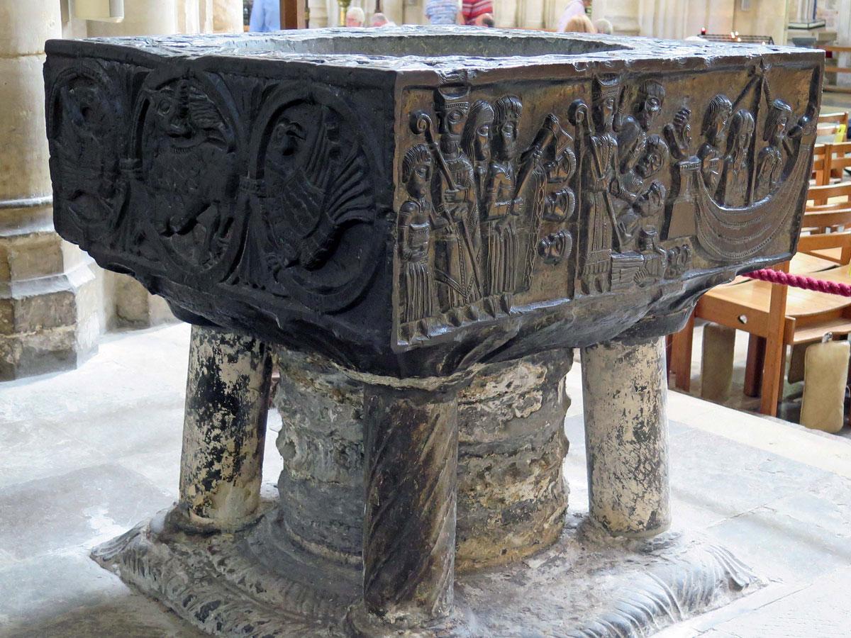 The 12th century Tournai Marble Font