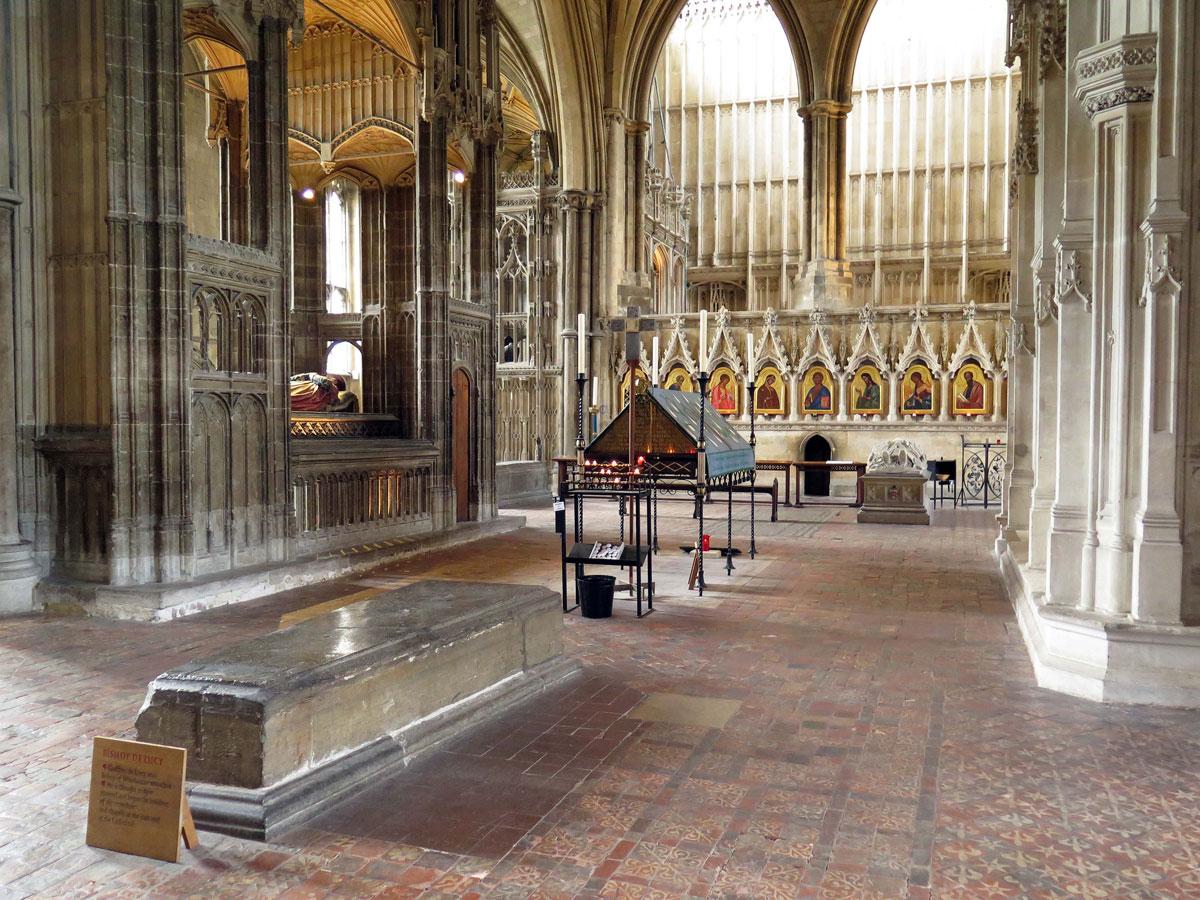 The Retrochoir showing Bishop de Lucy's Tomb