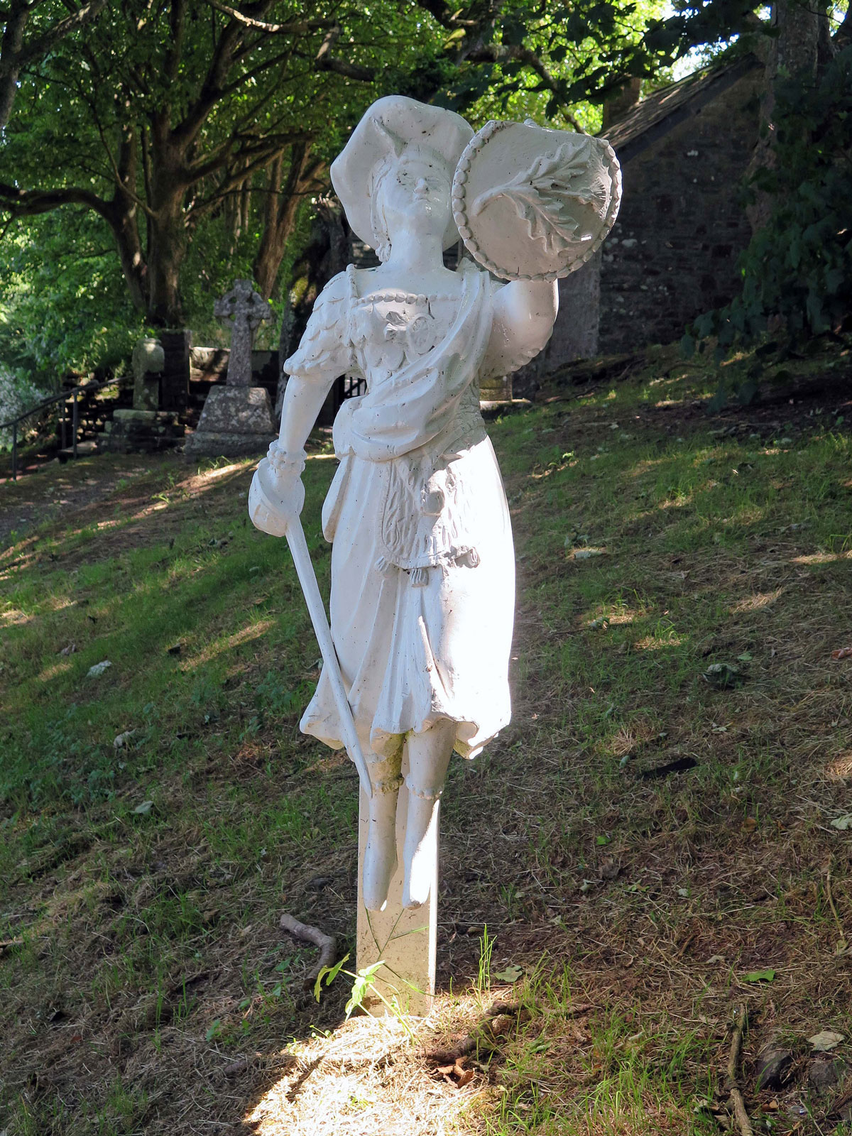 Replica of the Figurehead from the Caledonia in the Churchyard