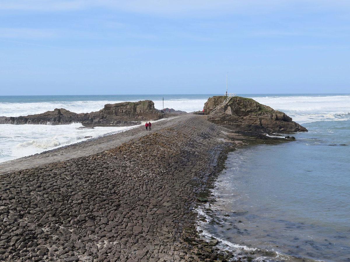 The Breakwater and Chapel Rock