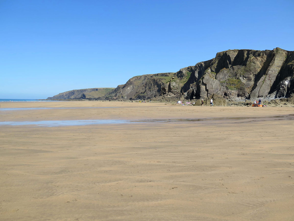 The Beach and Cliffs at Sandymouth