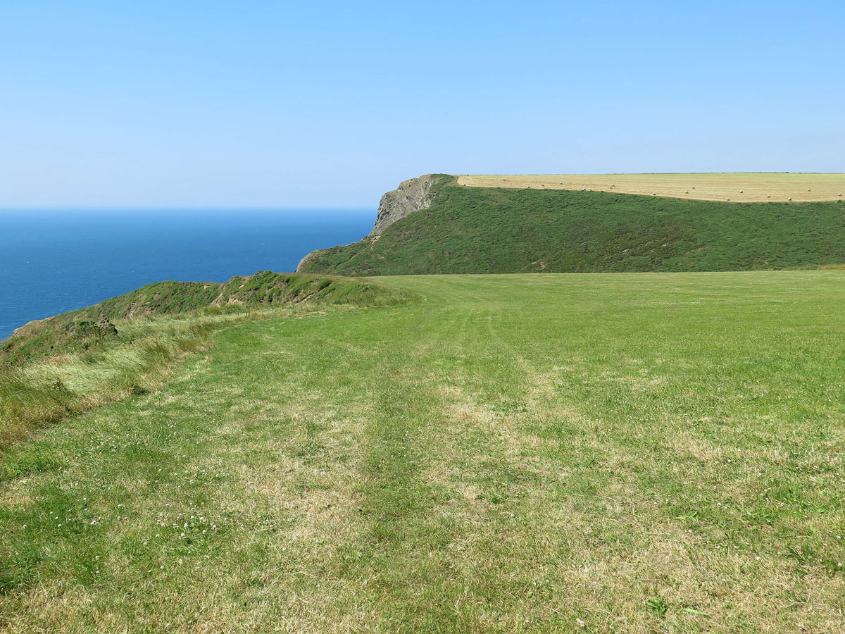 View along the Cliffs from the Footpath to Hawker's Hut