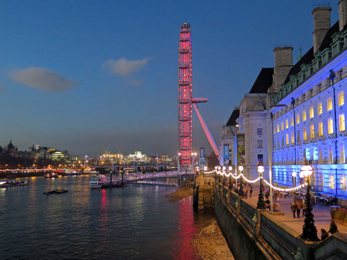 County Hall, The London Eye and the River Thames