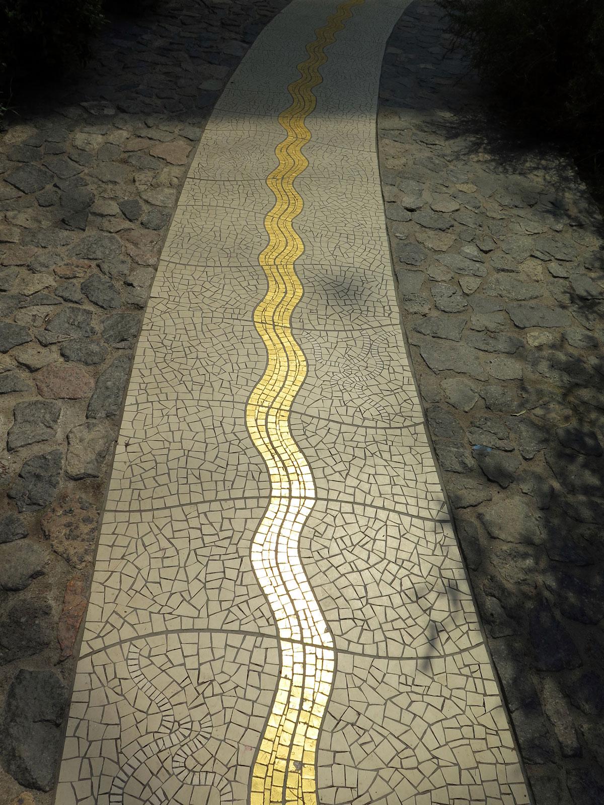 Liquid Gold Mosaic (representing olive oil)