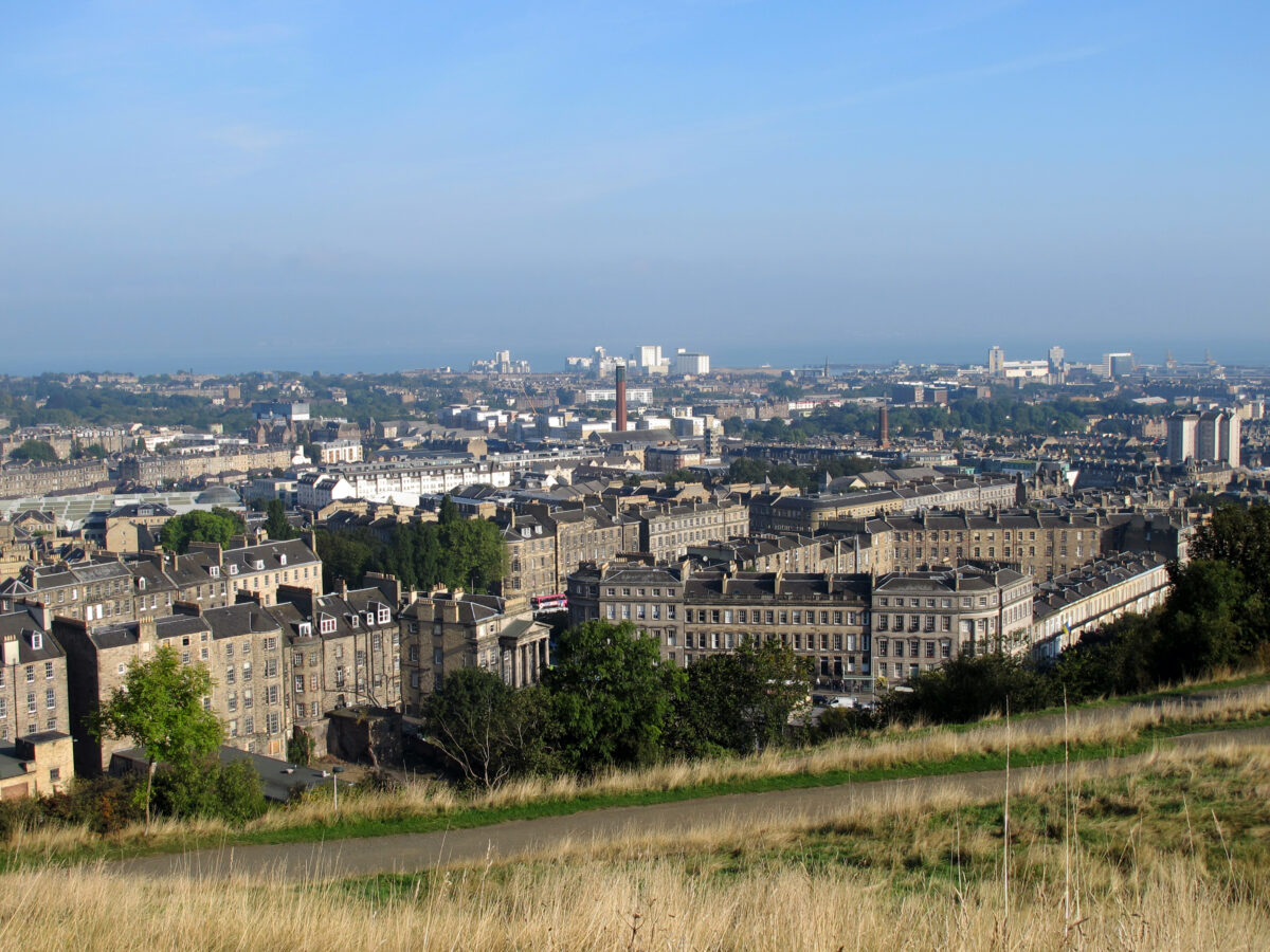 Looking towards Leith and the Firth of Forth
