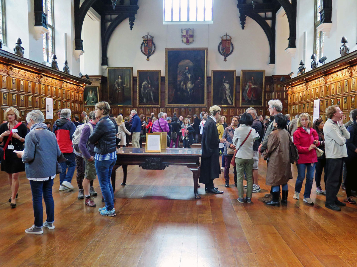 Inside Middle Temple Hall during Open House London Weekend