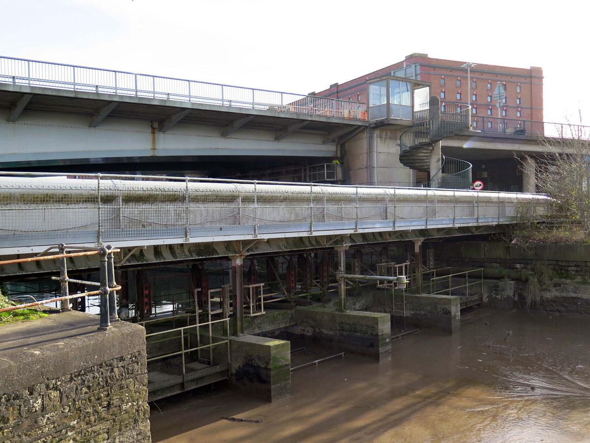 Brunel's South Entrance Lock and Replica Bridge