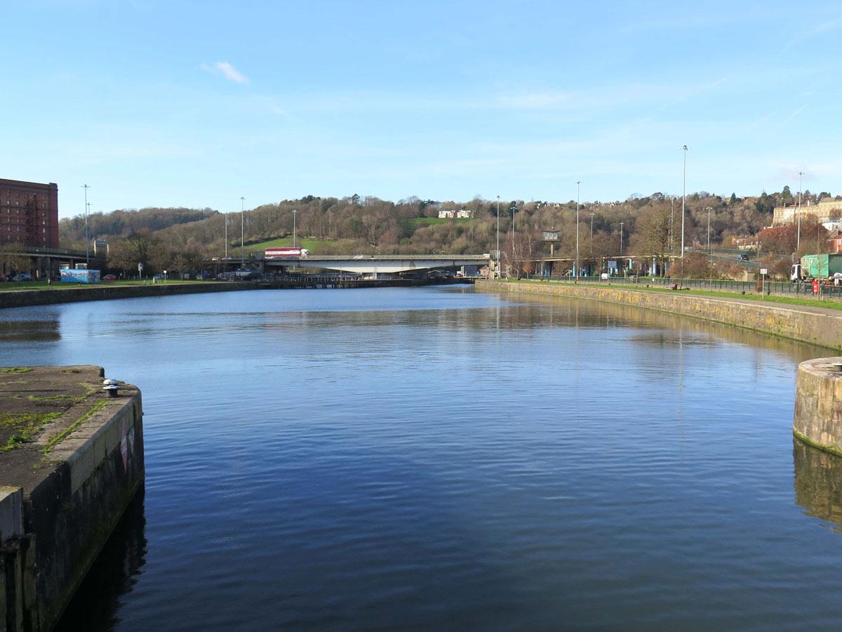 Cumberland Basin looking towards Plimsoll Bridge from Junction Lock