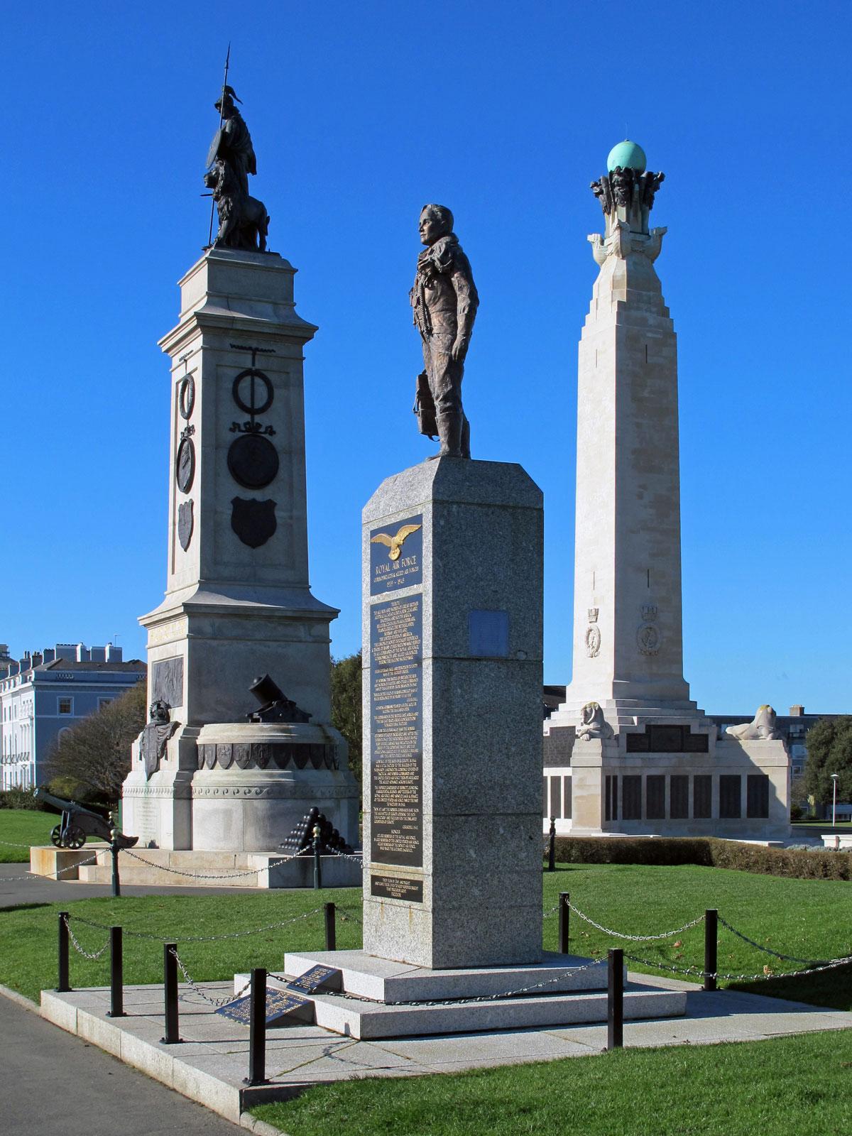 The Armada Memorial, RAF Memorial and Naval Memorial
