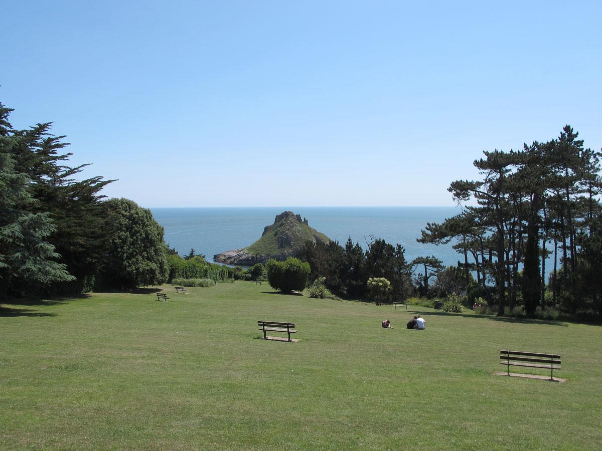 Thatcher Point from Ilsham Marine Drive