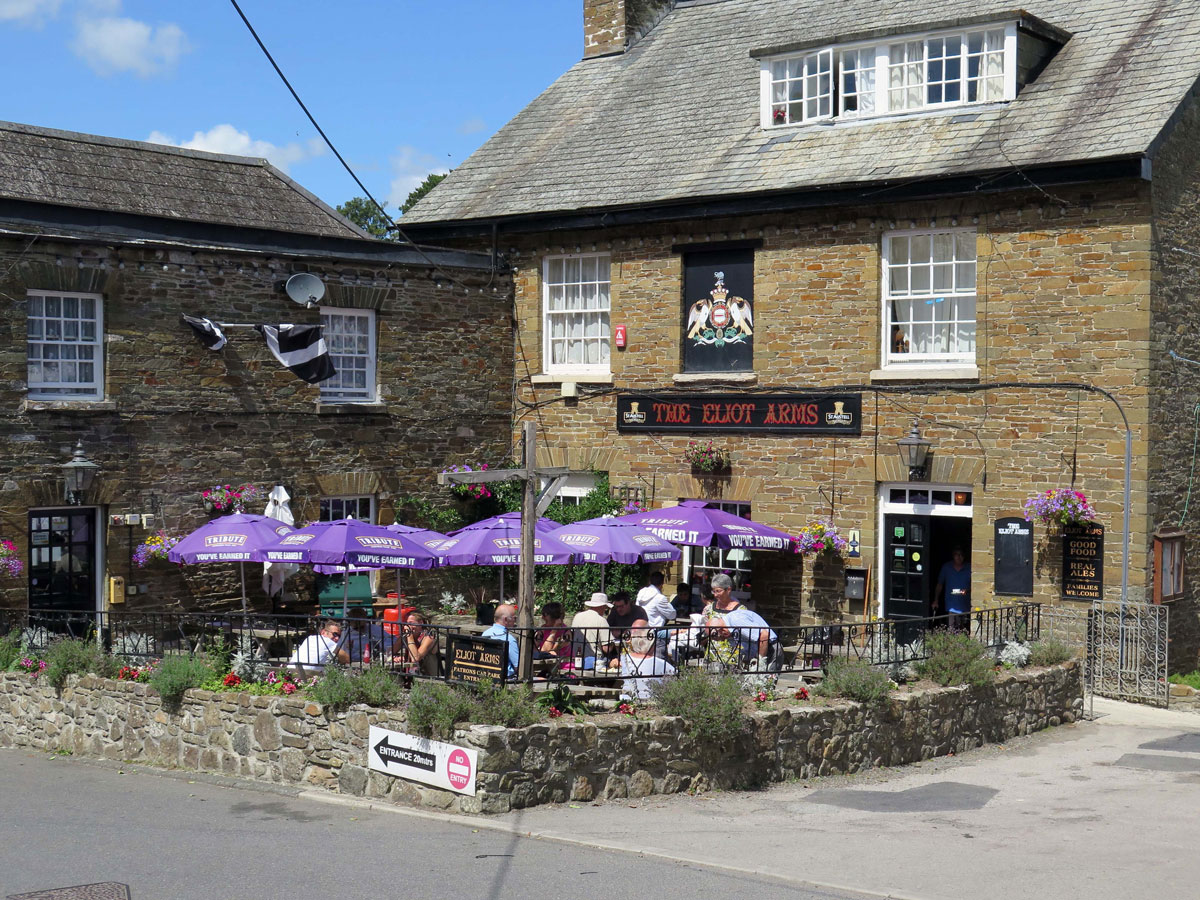 The Eliot Arms in the village