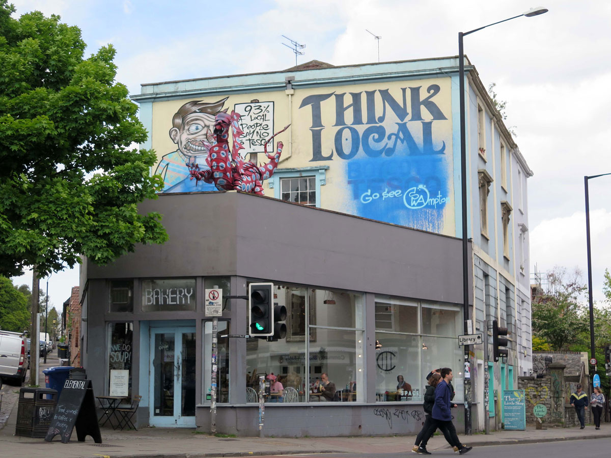 The (painted over) 'Boycott Tesco' Mural
