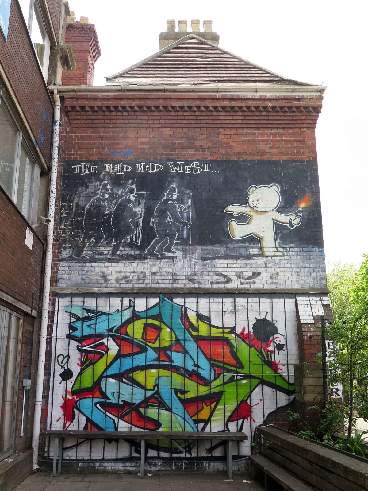 Banksy and some artwork by Soker