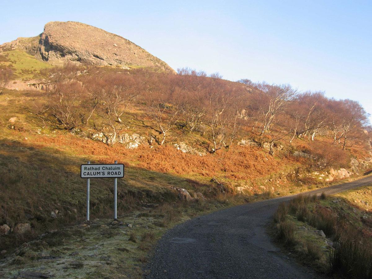 The start of Calum's Road
