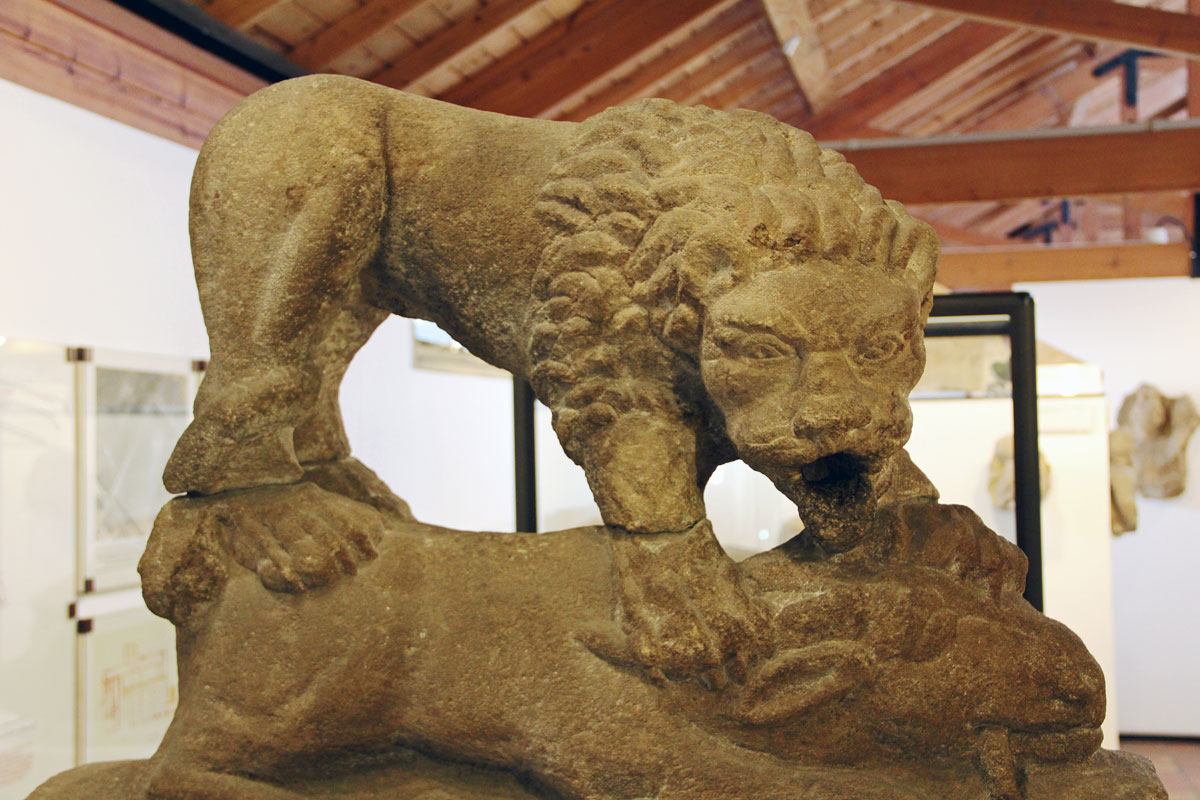 One of the museum's exhibits - the Corbridge Lion