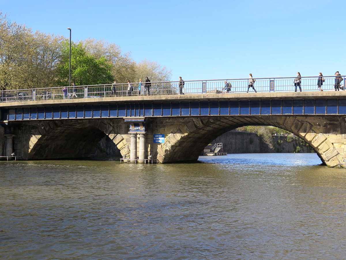 The 1768 Bridge underneath the current one