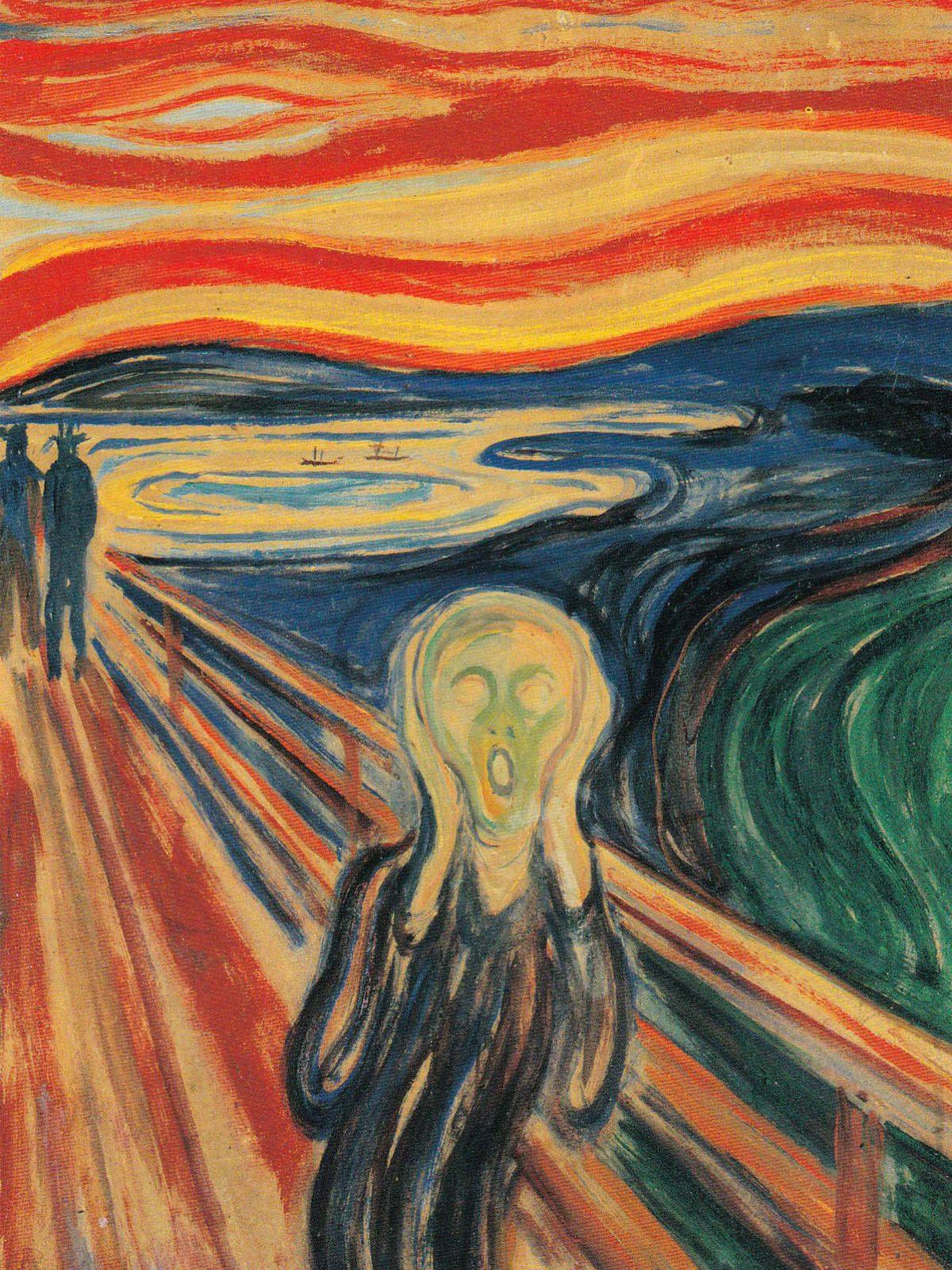 Postcard of 'The Scream'