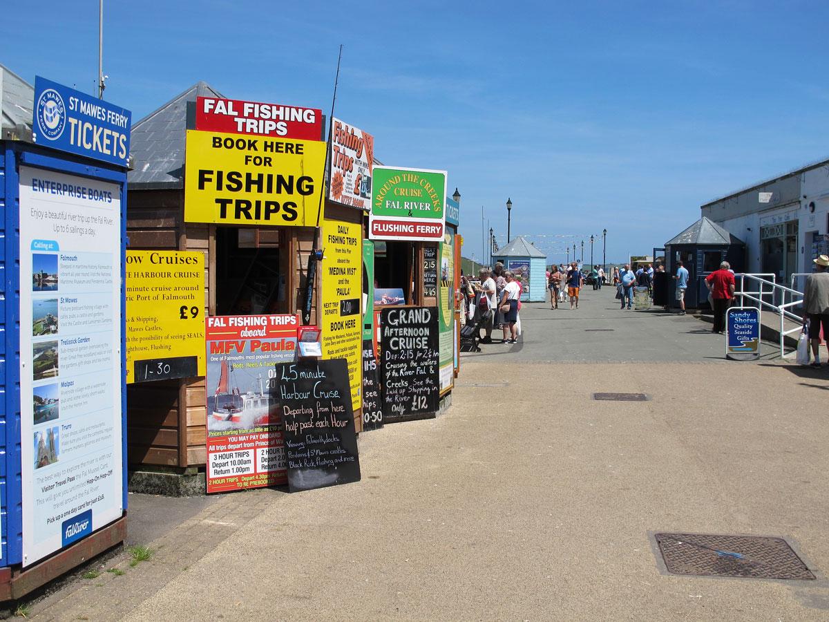 Boat Trip Kiosks on the Pier