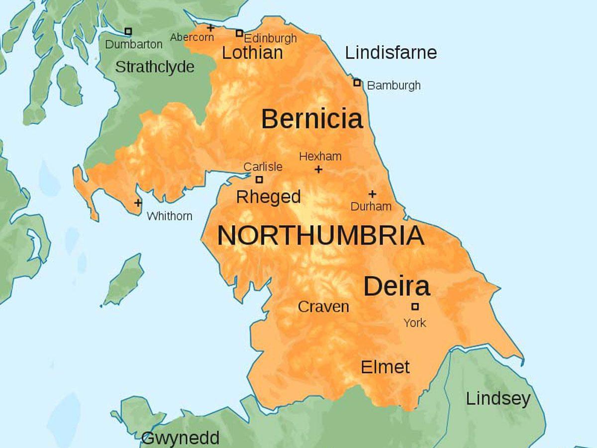 Northumbria c700 AD (Map by Hogweard)