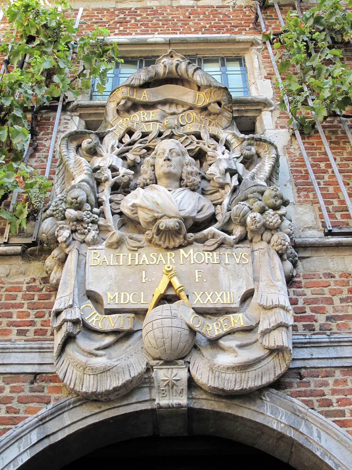 Balthasar II Moretus overlooking the Inner Court