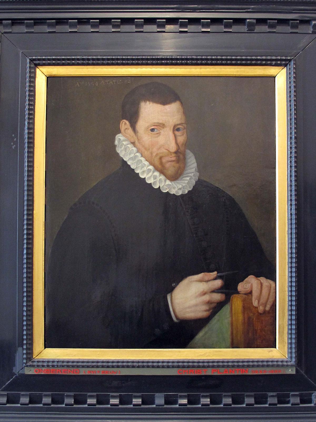 Portrait of Christophe Plantin by Rubens
