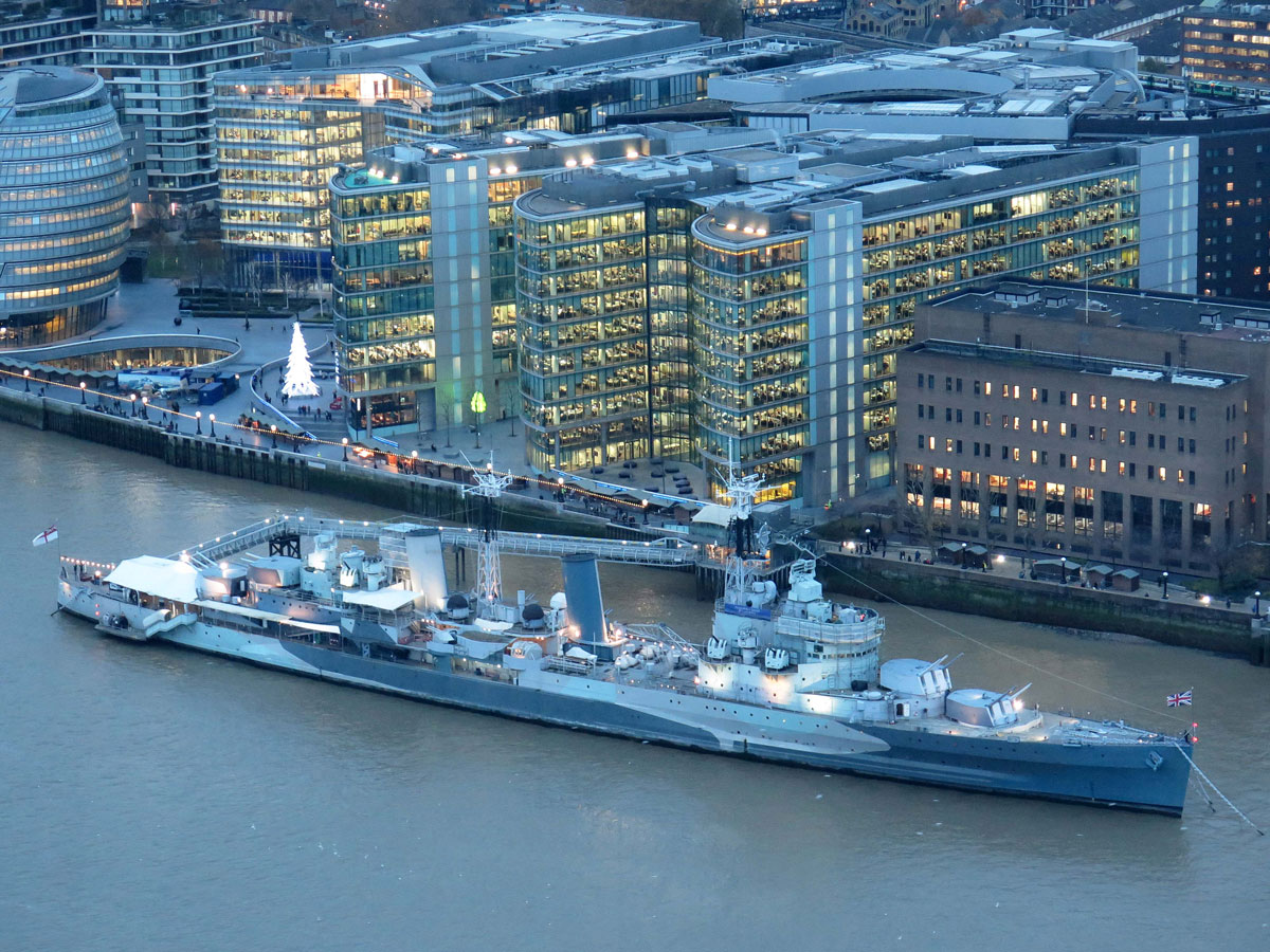 HMS Belfast with More London behind
