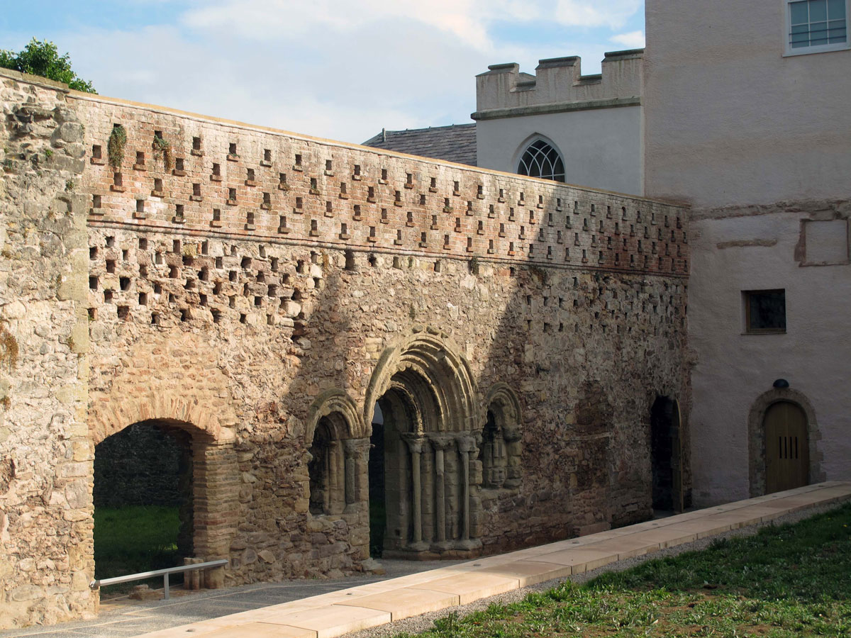 Wall between the Cloister and Abbey Ruins