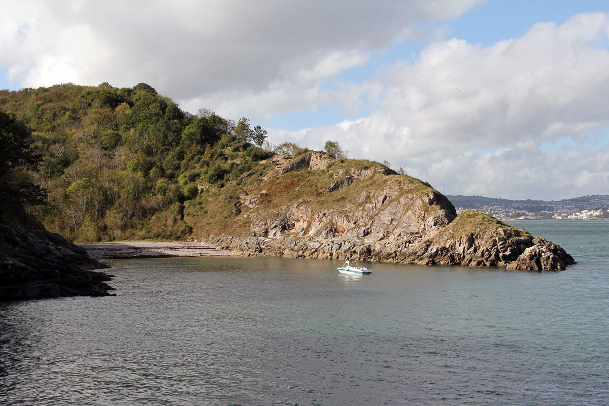 Churston Cove as seen from Fishcombe Cove