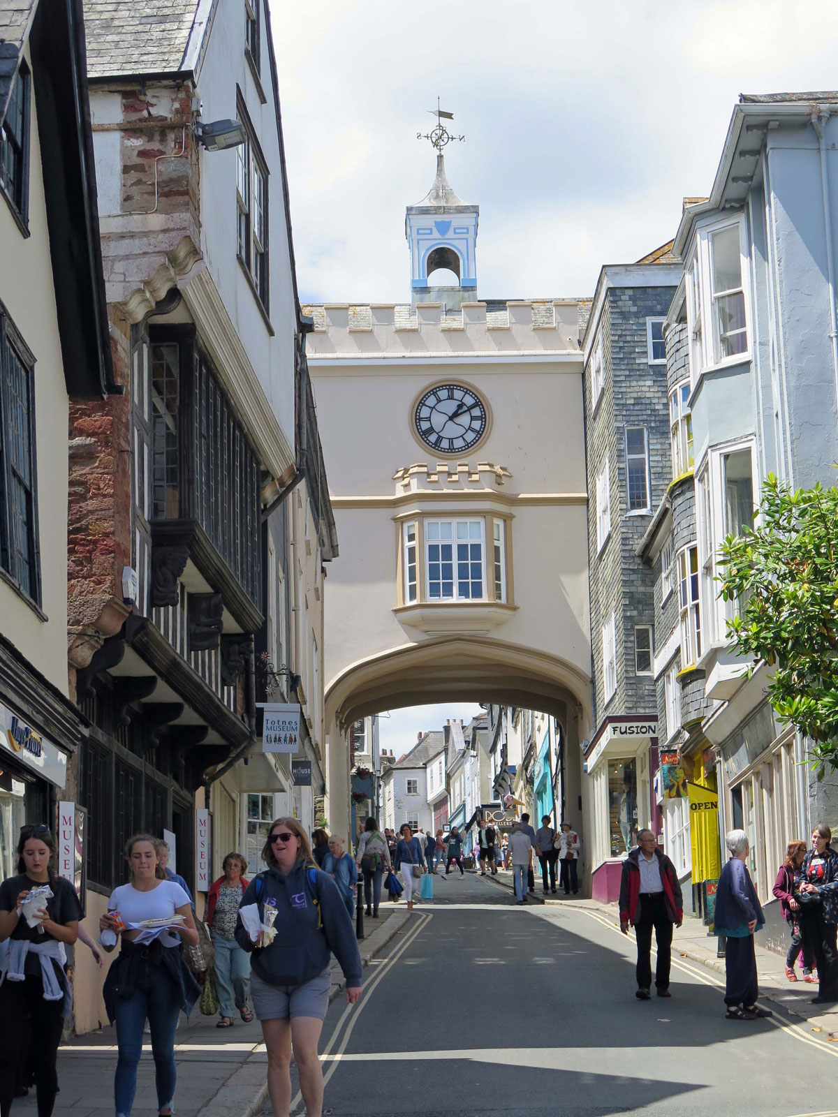 The Eastgate Arch from Fore Street
